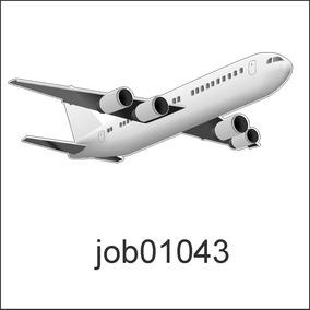 Adesivo Decorativo Avião 10 Unidades 20cm Cada Personalizado