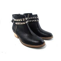 Zapatos Mujer Cuero Botitas Botas Texanas Magali Shoes