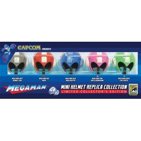 Set 5 Mini Cascos Megaman Comiccon Capcom Limitados + Bases