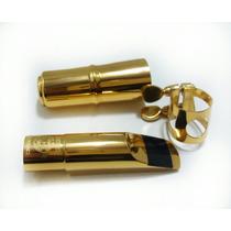Boquilha Selmer De Metal N°7 Para Sax Soprano Completa