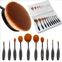 Kit De Pinceis Oval 10 Pcs + Kabuki 10 Pcs + Cilindro 12 Pcs
