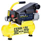 Compressor De Ar Mega Cfa, 5,5/6l, 750 W, Bivolt - Ferrari