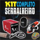 Kit Completo Serralheiro Bambozzi + G720 + Mascara + Disco