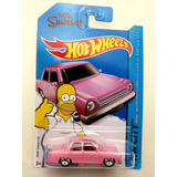 Carrinho Hot Wheels Homer Simpsons Rosa Raro Carro Original
