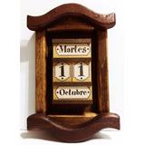 Calendario Perpetuo En Madera Rustica