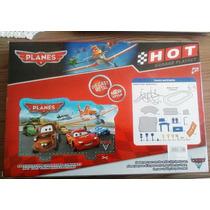 Brinquedo Pista Super Garagem Planes Carros 2 Mcqueen Aviões