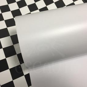 Vinil Adesivo Envelopamento Branco Fosco - 1m X 50cm