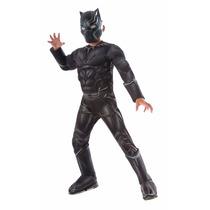 Disfraz Capitán América Traje De Panther Negro Hallowen Niño
