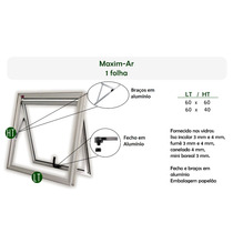Janelas Em Alumínio Maxim-ar 60x60 Vidro Incolor 3mm