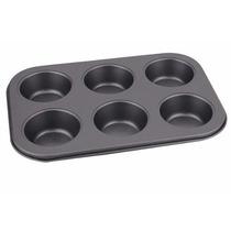 Forma Cupcake Antiaderente 6 Cav Muffin Bolo Pao De Queijo