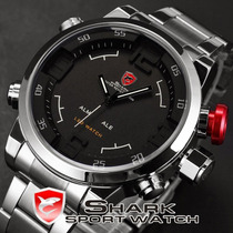 Relógio Shark Sh105 Sport Militar Led Original Prova D´água