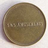 Moneda Token Ficha Usa S And S Amusements ( Collectors)