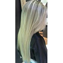 Mega Hair Tic Tac Fibra Futura Liso Loiro 200 Gramas.
