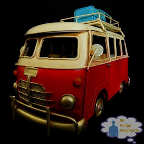 Mini Combi Volkswagen Vintage Metal Portaretrato