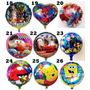10 Globos Metalizados Vengadores Avengers Cars Angry Birds