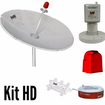 Kit Antena Parabólica Chapa 1,50 Mts + Lnbf Multi + Cabo
