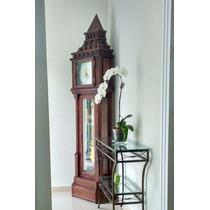 5340 Relógio Carrilhão De Chão Pedestal Novo Madeira Herweg