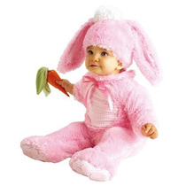 Disfraz 12 A 18 Meses Conejo Conejita Niña Bebe Rosa Pascua