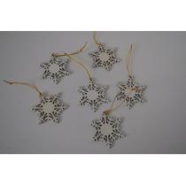 Esferas De Navidad Copos De Nieve Paquete 6 Piezas