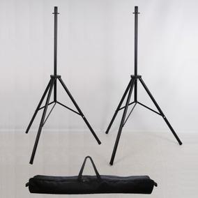 Kit 2 Pedestal Suporte Tripe Caixa De Som Ajuste Altur Bolsa