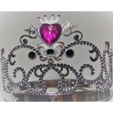 Corona De Princesa O Reina Tiara Plastica Plateada