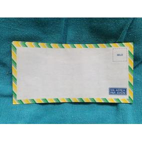Lote 5 Envelopes Carta Via Aérea Par Avion Correios Sem Uso
