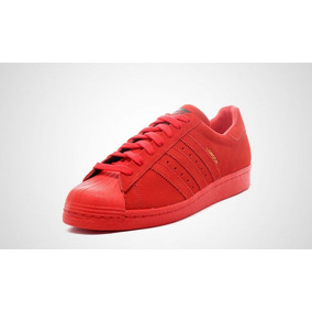 superstar adidas rojas