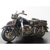Motocicleta Metal Retrô Artesanal, Decoração - Festa