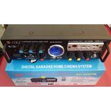 Amplificador 80w 12v 220v - 4 A 8 Ohms - Radio Fm - Usb - Sd