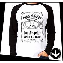 Manga Longa Guns N Roses Banda Hard Rock Blusa Camisa 10 Rt