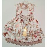 Vestido Infantil Para Festa Com Bolero De Plush Detalhe De P