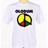 Camiseta Camisa Branca Personalizada Banda Reggae Axé Olodum