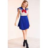 Vestidinho Sailor Moon - Vestido Saia Roupa Cosplay