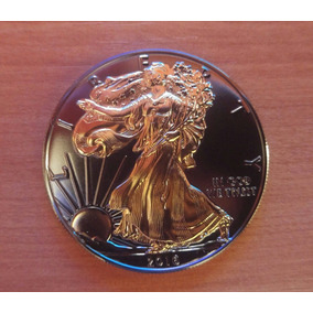Moneda American Silver Eagle 24 Kt Black Ruthenium Edition
