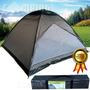 Barraca Camping 6 Pessoas Grande 3x3x1,83 Acampamento Mansão