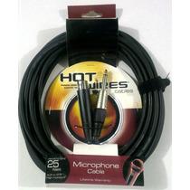 Cables Para Microfonos Hot Wires Canon-plug 7.5 Metros
