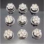 12 Pins Twist Cristal Blanco Flor Para Peinados Quince Novia