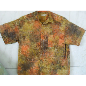 Camisa Estampada Hawai Carnaval Xxl Tamanho Especial G3 72cm