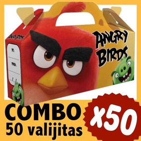 Angry Birds Cajita Golosinera Valijita Souvenir Combo X 50