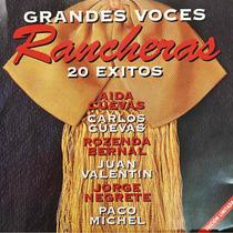 Cd Grandes Voces Rancheras 20 Exitos Aida Cuevas J Negrete