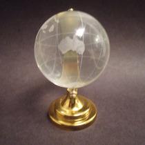 Esfera Globo Terraqueo En Cristal - Feng Shui