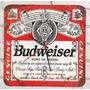 Relógio De Parede Em Madeira Mdf Cerveja Budweiser Com Caixa