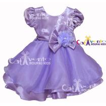 Vestido Festa Infantil Princesa Sofia Tam 1 Ao 5 Promoção