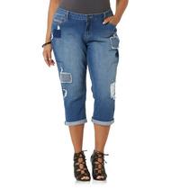Envio Jeans 20w Plus (50) Simply Em Pantalon Mezclilla Capri