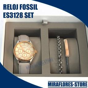 Reloj Fossil Bq3128 Set Correa Pulseras Para Dama