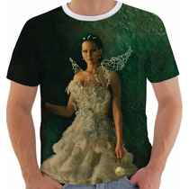 Camiseta Jogos Vorazes The Hunger Games Katniss Everdeen Cor