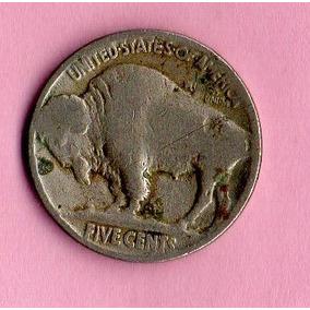 Moneda Usa 5 Centavos Indio Y Bisonte Ca. Año 1920