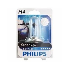 Lâmpada Farol Moto H4 Philips Blue Vision 4000k Xenon