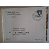 Manual Master De Despiece: Peugeot 403 Sedan/derivados 1960