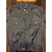 Campera Impermeable Azul Marino Marca Refans A+
